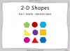 2-D Shapes - Year 3