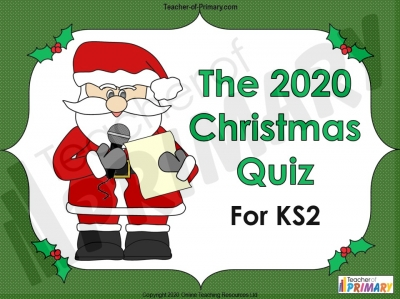 2020 Christmas Quiz for KS2