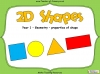 2D Shapes - Year 1
