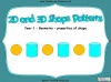 2D and 3D Shape Patterns - Year 1 (slide 1/23)