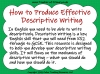 A Guide to Descriptive Writing (slide 2/35)