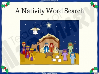 A Nativity Word Search