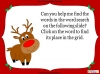 A Word Search for Rudolph (slide 2/8)