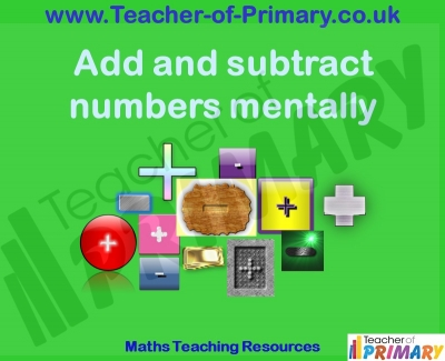 Add and subtract numbers mentally 2