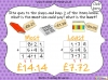 Adding Decimals (with the same number of decimal places) - Year 5 (slide 54/65)