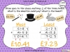 Adding Decimals (with the same number of decimal places) - Year 5 (slide 55/65)