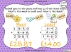 Adding Decimals (with the same number of decimal places) - Year 5 (slide 57/65)