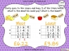 Adding Decimals (with the same number of decimal places) - Year 5 (slide 59/65)
