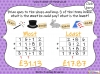 Adding Decimals (with the same number of decimal places) - Year 5 (slide 62/65)