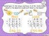 Adding Decimals (with the same number of decimal places) - Year 5 (slide 64/65)
