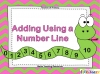 Adding Using a Number Line (slide 1/28)