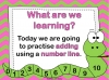 Adding Using a Number Line (slide 2/28)