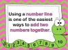 Adding Using a Number Line (slide 3/28)