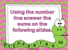 Adding Using a Number Line (slide 5/28)