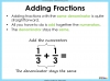 Adding and Subtracting Fractions - Year 3 (slide 10/48)
