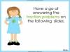 Adding and Subtracting Fractions - Year 3 (slide 39/48)