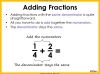 Adding and Subtracting Fractions - Year 4 (slide 10/52)