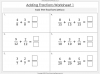 Adding and Subtracting Fractions - Year 4 (slide 16/52)
