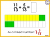 Adding and Subtracting Fractions - Year 4 (slide 30/52)