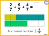 Adding and Subtracting Fractions - Year 4 (slide 32/52)