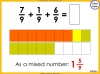 Adding and Subtracting Fractions - Year 4 (slide 33/52)