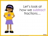 Adding and Subtracting Fractions - Year 4 (slide 35/52)