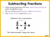 Adding and Subtracting Fractions - Year 4 (slide 36/52)
