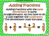 Adding and Subtracting Fractions - Year 5 (slide 7/49)