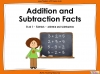 Addition and Subtraction Facts - Year 1