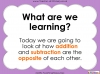 Addition and Subtraction are Opposites - Year 1 (slide 2/34)