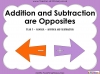 Addition and Subtraction are Opposites - Year 1