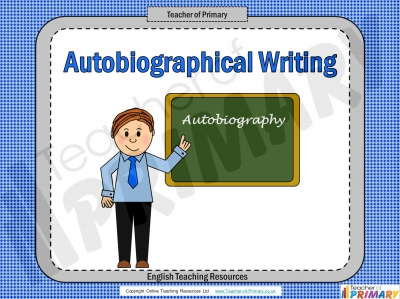 Autobiography teaching resource