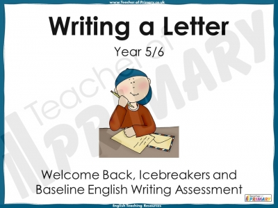 Back to School Letter - Year 5 and 6