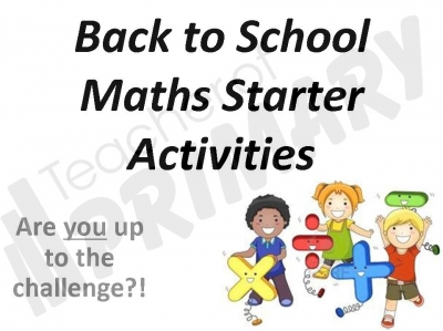 Back to School Maths Starter Activities