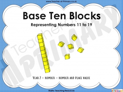 Base Ten Blocks - Numbers 11-19