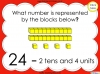 Base Ten Blocks - Representing Numbers 21 to 99 (slide 8/67)