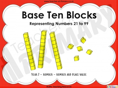 Base Ten Blocks - Representing Numbers 21 to 99