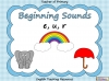 Beginning Sounds -  e, u, r (slide 1/15)