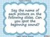 Beginning Sounds -  e, u, r (slide 2/15)