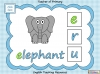 Beginning Sounds -  e, u, r (slide 7/15)