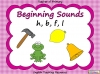 Beginning Sounds -  h, b, f, l (slide 1/15)