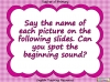 Beginning Sounds -  h, b, f, l (slide 2/15)