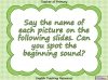 Beginning Sounds - i, n, m, d (slide 2/15)