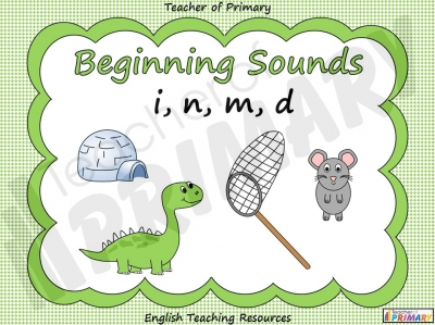 Beginning Sounds - i, n, m, d