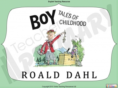 Boy by Roald Dahl - Free Resource