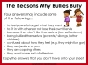 Bullying - Discussion Texts (slide 15/45)