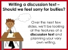Bullying - Discussion Texts (slide 16/45)