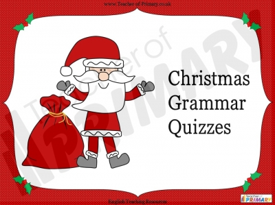 Christmas Grammar Games