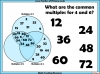 Common Multiples Activity - Year 5 (slide 6/8)