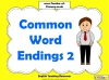 Common Word Endings 2 (slide 1/18)